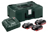 Metabo Basic-set 3 x LiHD 4,0 Ah + Metaloc 685133000